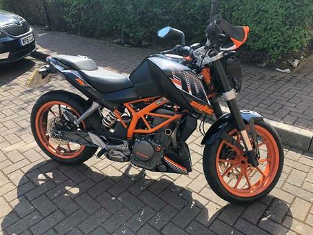 STOLEN - KTM DUKE 390 - WV65 OBU - Crime Ref: 5218248741