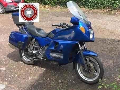STOLEN - BMW K1000LT - BLUE - REG:K958 DJH - Crime Ref: 5219160591