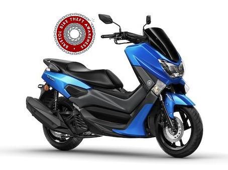 STOLEN IN BURGLARY - YAMAHA N-MAX - BLUE - PJ68 MBX - CRIME REF: AS-20190603-0228