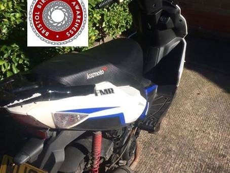 STOLEN - Lexmoto FMR125 - WU68 VVM - White/Blue - Crime Ref: 5219086505