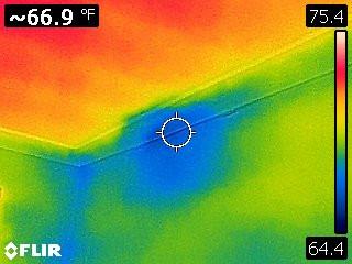 water damage, roof leak, IR inspection