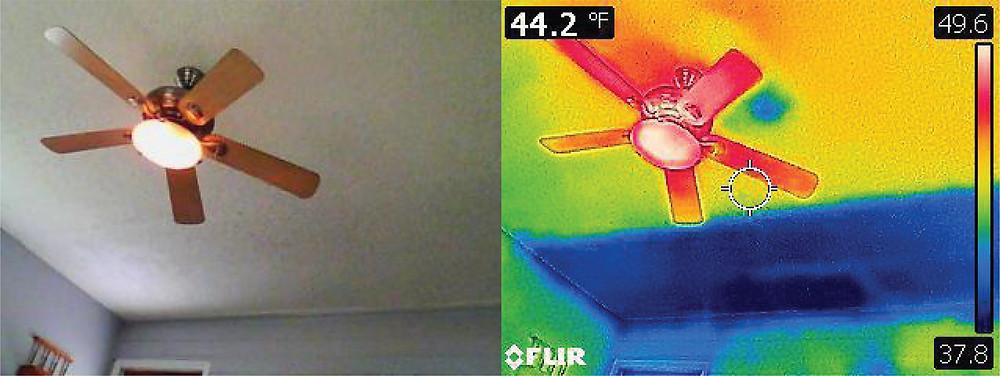 attic insulation, infrared