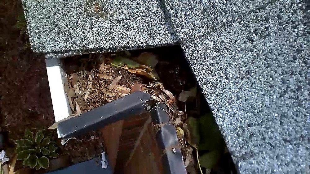 Clogged gutters, gutter inspection, home inspection camera