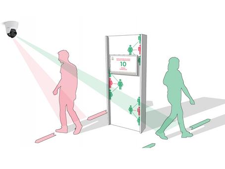 Beveiligingsfirma Varel Security introduceert social distancing display als slimme corona-oplossing