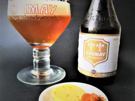 Komijnekaas met wortelcompote en Chimay Tripel