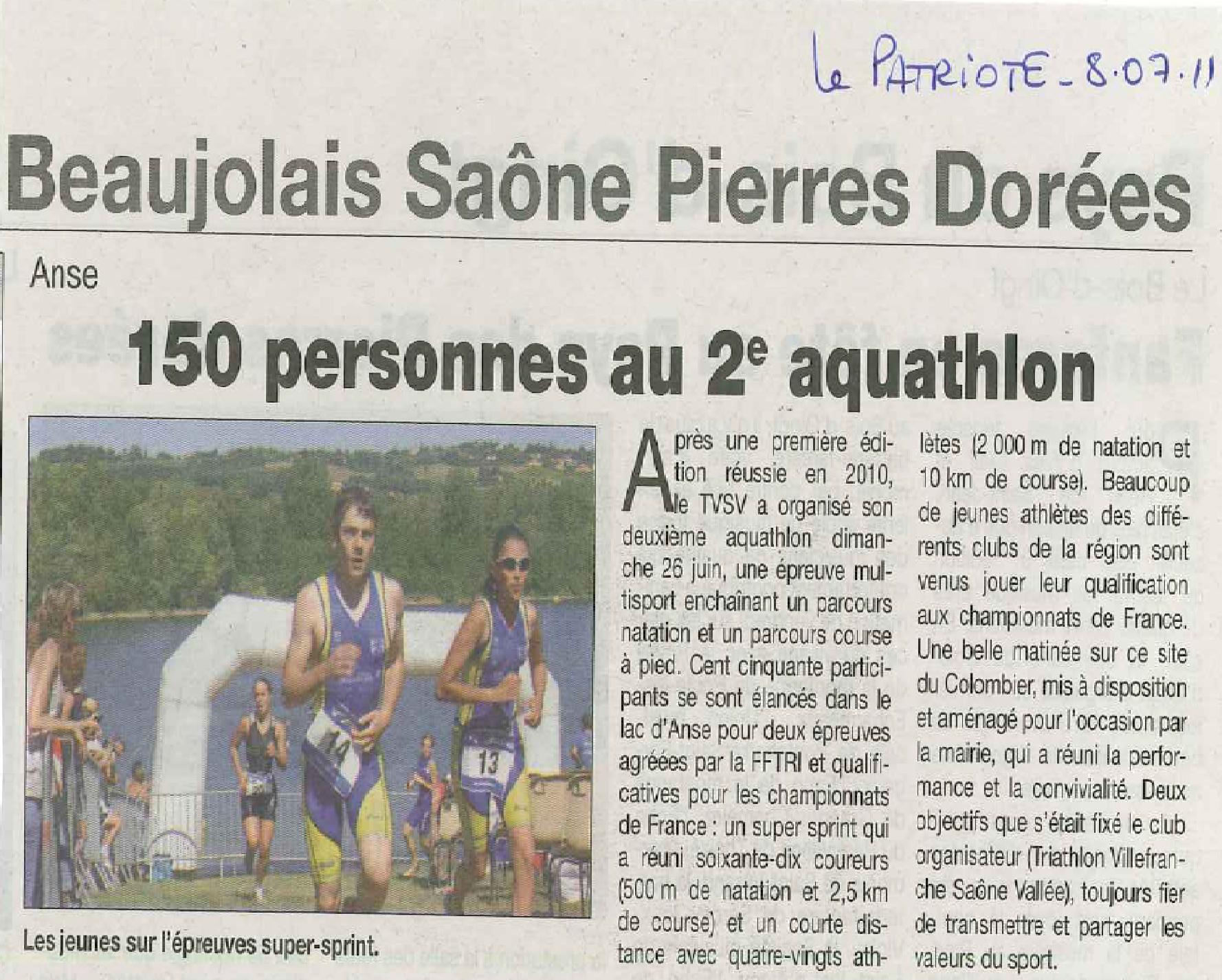 LE_PATRIOTE_150_personnes_au_2ème_aquathlon