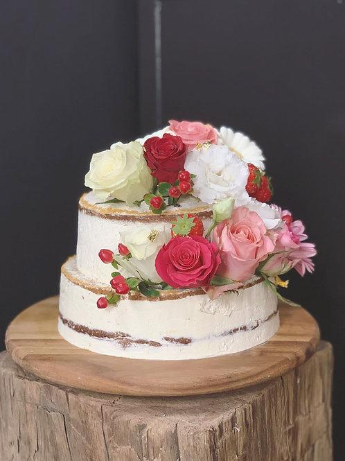 taart met bloemen