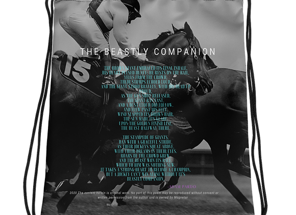 """Beastly Companion"" Drawstring Bag"
