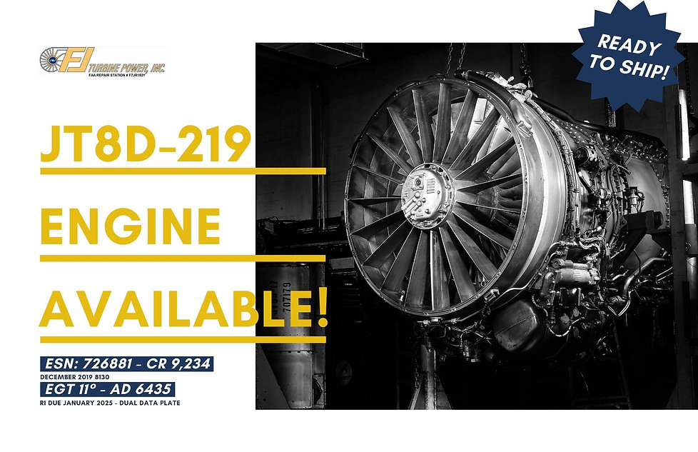 JT8D ENGINE FOR SALE