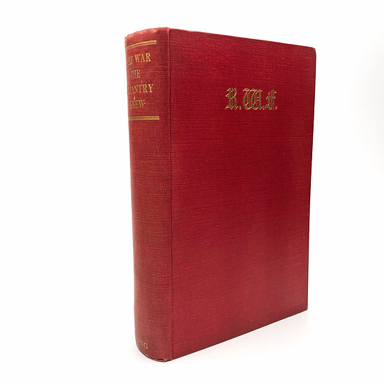 The War the Infantry Knew by James Dunn / Siegfried Sassoon 1st / 1st 1938