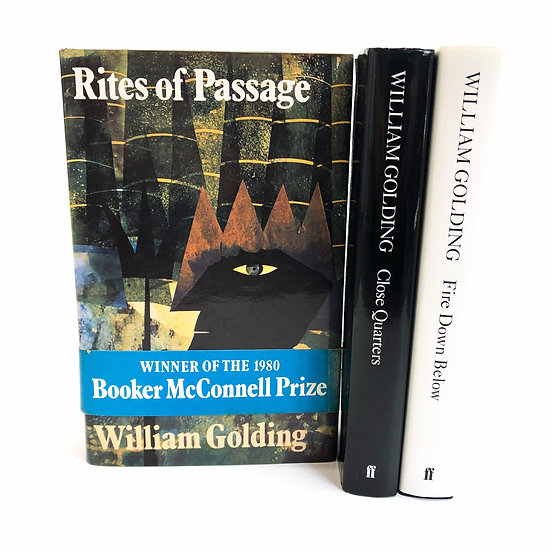 William Golding's 'Sea Trilogy' in Three Volumes, 1st/1st, 1980-89