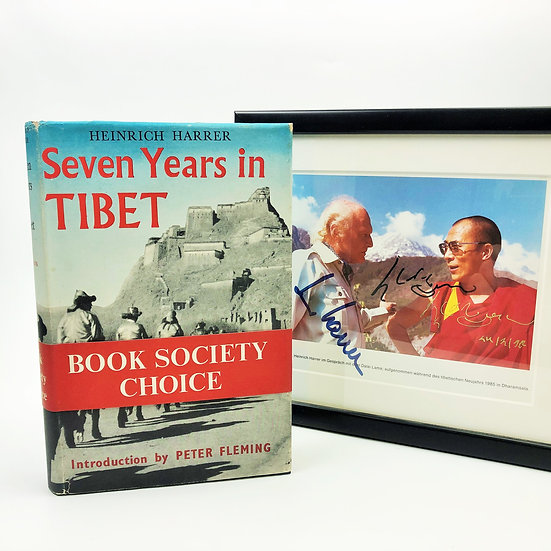 Seven Years in Tibet signed by Heinrich Harrer 1st / 1st 1953