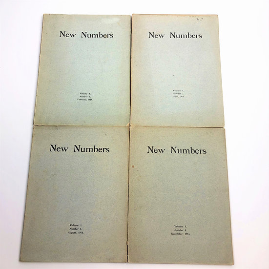 New Numbers 1-4 by Rupert Brooke, John Drinkwater & Co 1st / 1st 1914