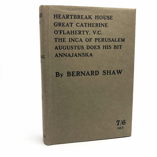 Heartbreak House, Great Catherine etc by George Bernard Shaw 1st / 1st 1919