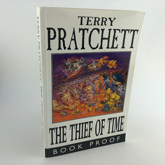 Thief of Time signed by Terry Pratchett 1st 2001 agent's proof copy