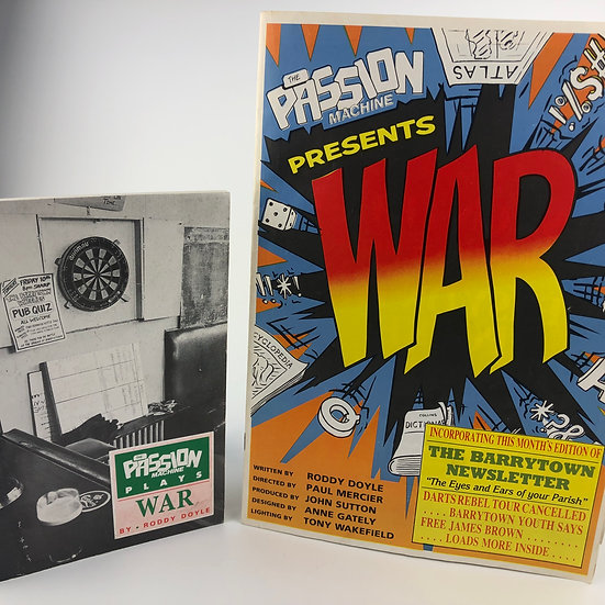 War + theatre programme both signed by Roddy Doyle 1st / 1st 1989