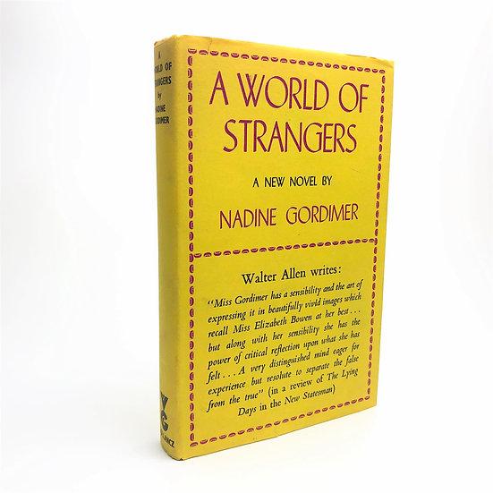 A World of Strangers Signed by Nadine Gordimer 1st / 1st 1958