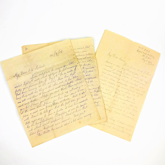 Two letters by Lieutenant Frank Torbutt about life on The Western Front 1915-16
