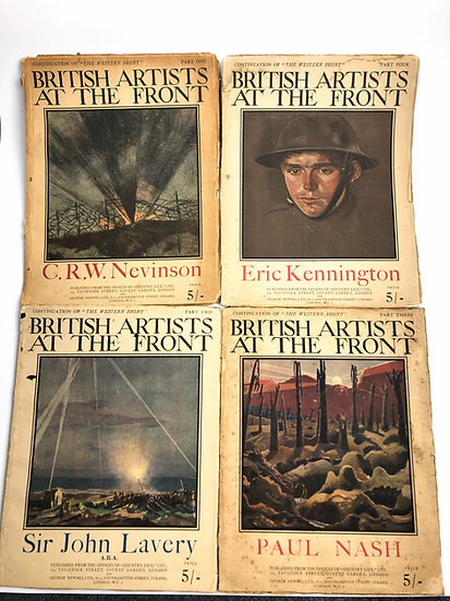 British Artists At The Front by Paul Nash; C.R.W Nevinson & Co 1st 1919