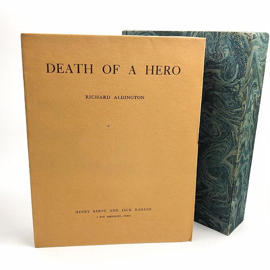Death of a Hero by Richard Aldington 1st / 1st 1930