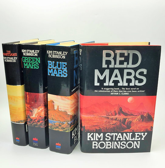 Red Mars Quartet all 4 volumes signed by Kim Stanley Robinson 1st 1992
