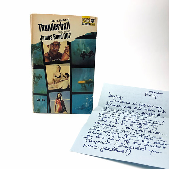 Thunderball by Ian Fleming Pan Paperback + Domino Letter 1965