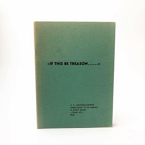 If This Be Treason by Ezra Pound 1st / 1st 1948