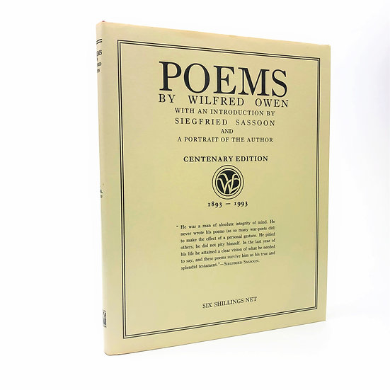 Poems by Wilfred Owen 1st Centenary edition 1993