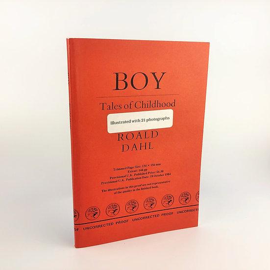 Boy by Roald Dahl 1st / Proof 1984