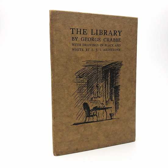 The Library by George Crabbe / Edward Ardizzone 1st / 1st 1930