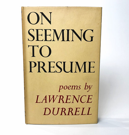 On Seeming To Presume by Lawrence Durrell, 1st/1st, 1948