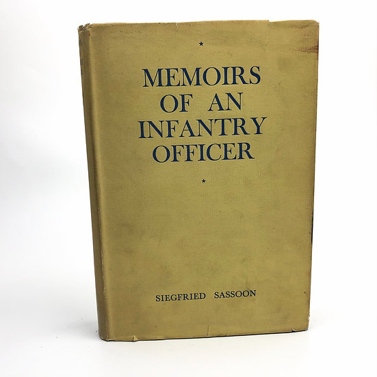 Memoirs of an Infantry Officer by Siegfried Sassoon 1st / 1st 1930