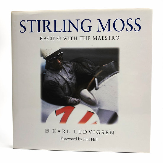 Stirling Moss Signed Racing with the Maestro by Karl Ludvigsen 1st 1997