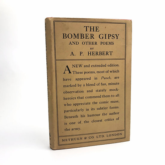 The Bomber Gipsy by A.P. Herbert 1st Enlarged Edition 1919