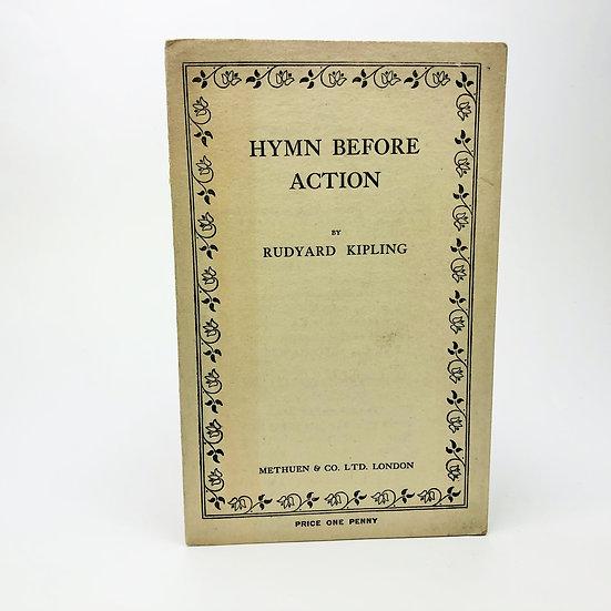 Hymn Before Action by Rudyard Kipling 1st / 1st 1914