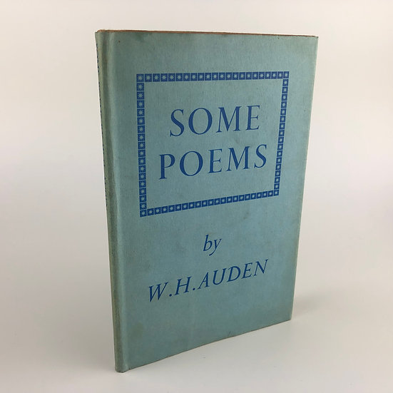 Some Poems by W.H Auden 1st / 1st 1940