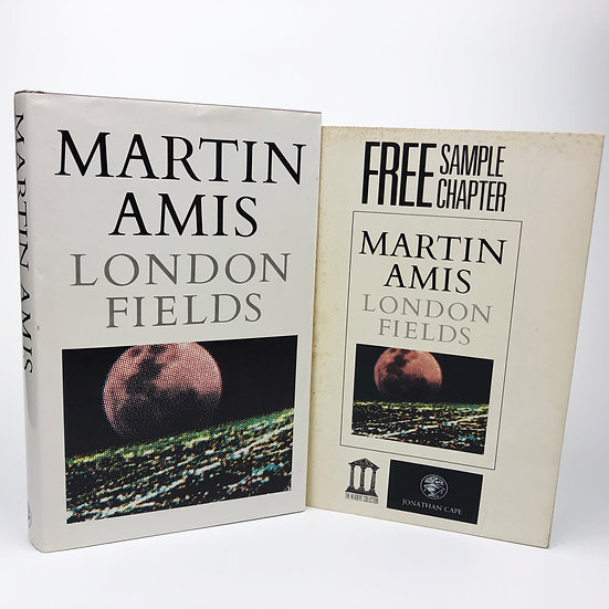 London Fields signed by Martin Amis 1st / 1st 1989 + Sampler