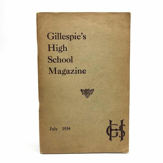 Gillespie's High School Magazine Muriel Spark (nee Camberg) 1st 1934