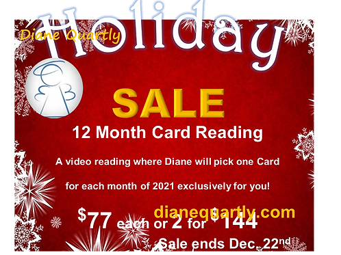 Holiday Sale! 12 Month Card Readings.
