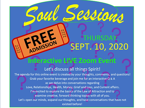 Soul Sessions. Free! Live Interactive Zoom Event