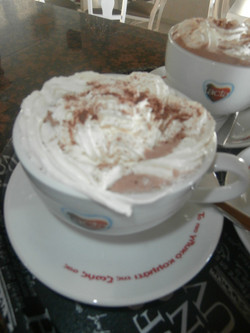 Hot chocolate with whipped cream