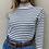 Thumbnail: Gabriella strips knit bnw