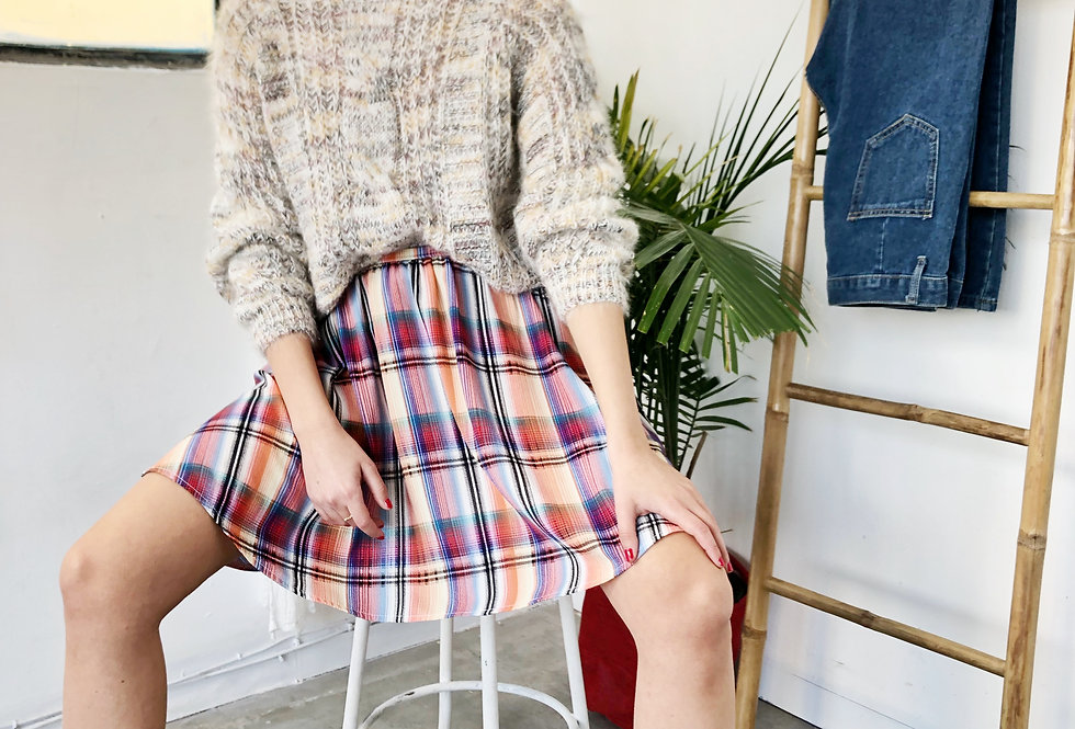 Brenda knit top (white sparkle)