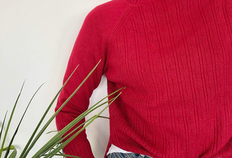 Jean bordo knit top