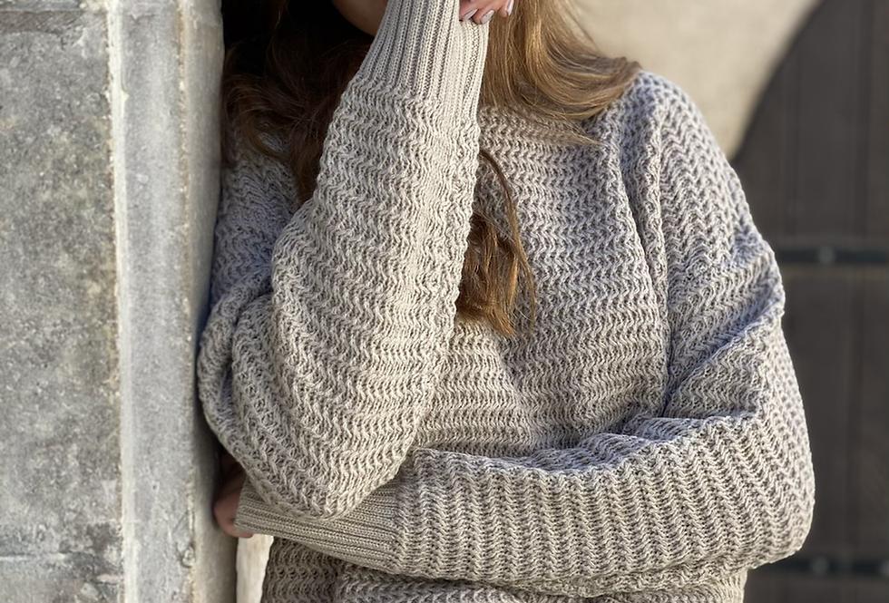 Super star knit light brown