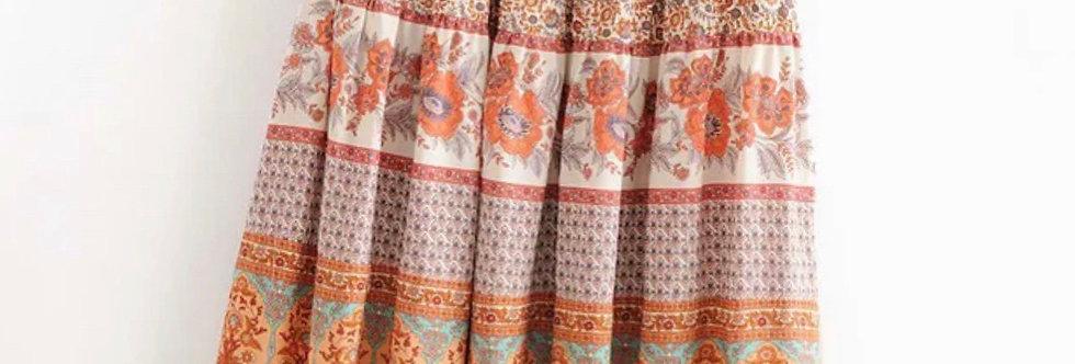 Boho skirt orange