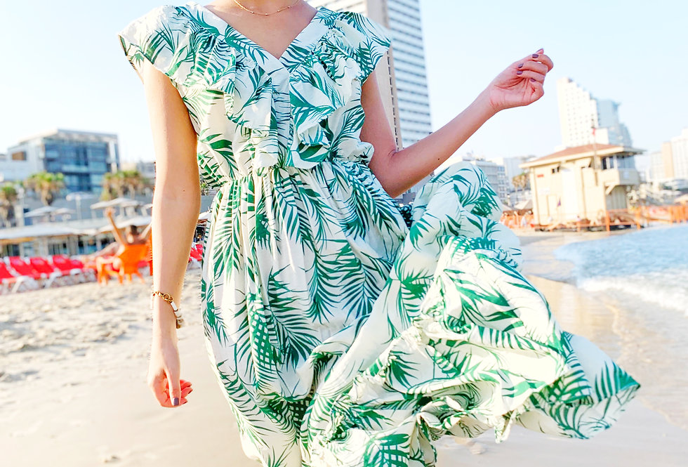 Best seller dress (palms)