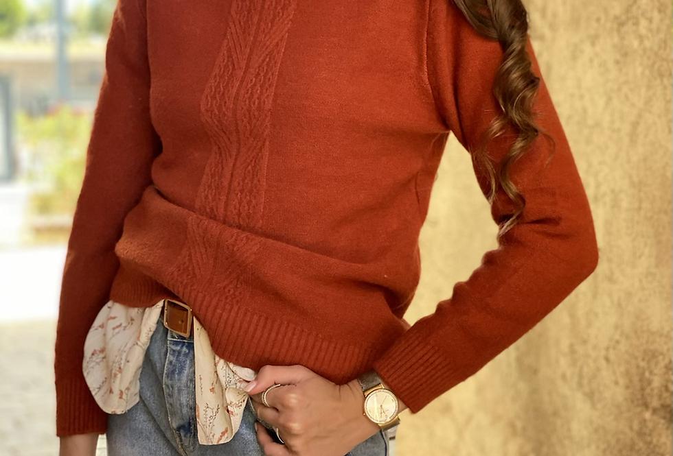 Pretty knit . Dessert red