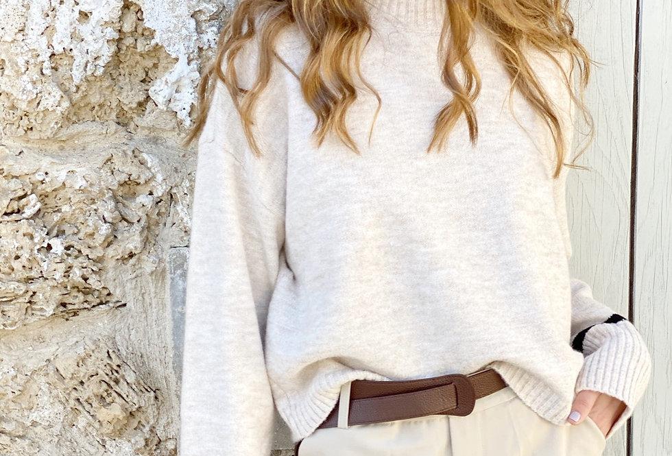 One strip knit ( beige)