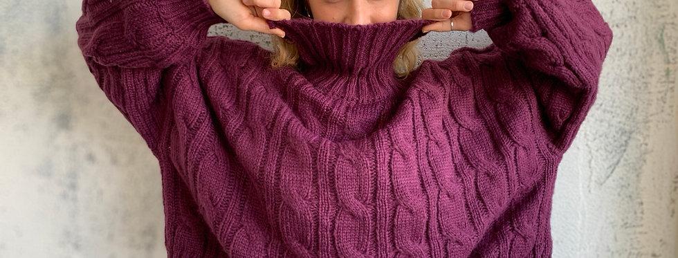 Coco knit eggplant